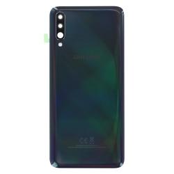 Remplacer la vitre arrière en plastique du Galaxy A70 noir par une pièce neuve d'origine avec Bricophone_photo1