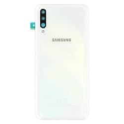Remplacer la vitre arrière en plastique du Galaxy A70 blanc par une pièce neuve d'origine avec Bricophone_photo1