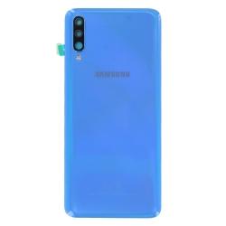 Remplacer la vitre arrière en plastique du Galaxy A70 bleu par une pièce neuve d'origine avec Bricophone_photo1