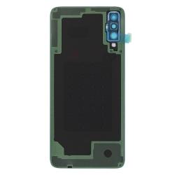 Remplacer la vitre arrière en plastique du Galaxy A70 bleu par une pièce neuve d'origine avec Bricophone_photo2