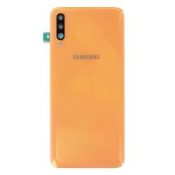 Remplacer la vitre arrière en plastique du Galaxy A70 corail par une pièce neuve d'origine avec Bricophone_photo1