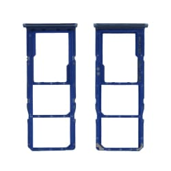 Rack tiroir pour cartes SIM et SD du Samsung Galaxy A70 Bleu_photo1