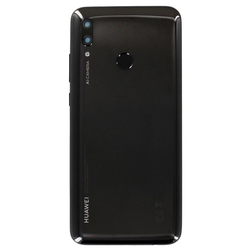 Vitre arrière Noire et lecteur d'empreintes pour Huawei P Smart 2019_photo1