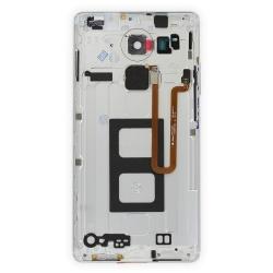 Coque arrière avec lecteur d'empreintes pour Huawei Mate 8 Blanc_photo2