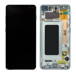 Bloc écran Amoled et vitre pré-montés sur châssis pour Samsung Galaxy S10+ Vert Prisme_photo1