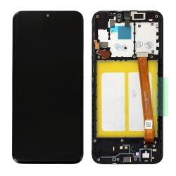 Bloc écran LCD et vitre pré-montés sur châssis pour Samsung Galaxy A20e Noir