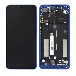 """Bloc Ecran Bleu """"Aurora"""" COMPLET pré-monté sur châssis pour Xiaomi Mi 8 Lite_photo1"""