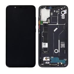 Bloc Ecran Noir COMPLET pré-monté sur châssis pour Xiaomi Mi 8_photo1