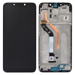 Bloc Ecran Noir pré-monté sur châssis pour Xiaomi Pocophone F1_photo1