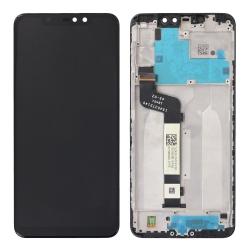 Bloc Ecran Noir pré-monté sur châssis pour Xiaomi Redmi Note 6 Pro_photo1