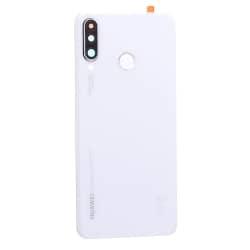 Vitre arrière Blanche d'origine avec lecteur d'empreintes pour Huawei P30 Lite_photo1