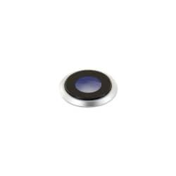 Lentille avec bague de caméra arrière pour iPhone 8 Argent
