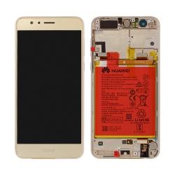 Bloc Ecran Or COMPLET pré-monté sur châssis + batterie pour Huawei Honor 8