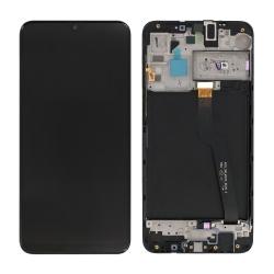 Bloc écran LCD + vitre pré-monté sur châssis pour Samsung Galaxy A10 Noir_photo1