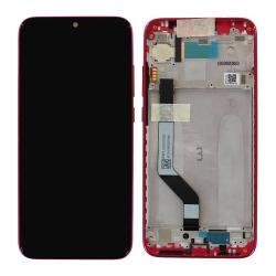 Bloc Ecran Rouge pré-monté sur châssis pour Xiaomi Redmi Note 7