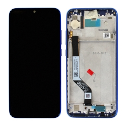 Bloc Ecran Bleu pré-monté sur châssis pour Xiaomi Redmi Note 7_photo1