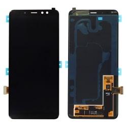 Ecran Noir avec vitre + Super Amoled pour Samsung Galaxy A8+ 2018