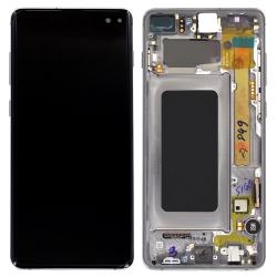 Bloc écran Amoled et vitre pré-montés sur châssis pour Samsung Galaxy S10+ Noir Prisme_photo1