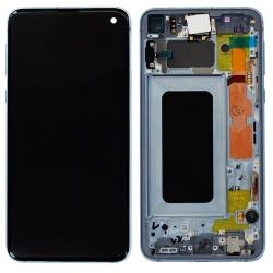 Bloc Écran Bleu Prisme Super-Amoled et vitre pré-monté pour Samsung Galaxy S10e_photo1