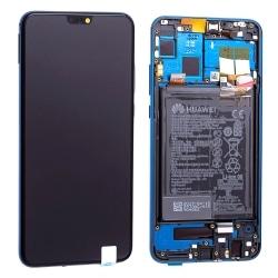 Bloc Ecran Bleu complet pré-monté + batterie sur châssis pour Honor 8X_photo1