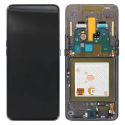 Bloc écran Super Amoled + vitre pré-monté sur châssis pour Samsung Galaxy A80 Noir