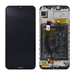 Bloc écran Noir complet pré-monté + batterie sur châssis pour Huawei Y7 Prime (2019)