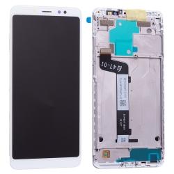 Bloc Ecran Blanc prémonté sur chassis pour Xiaomi Redmi Note 5