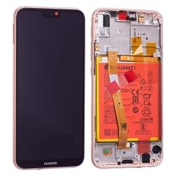 Bloc Ecran Rose Sakura COMPLET prémonté sur chassis + batterie pour Huawei P20 Lite