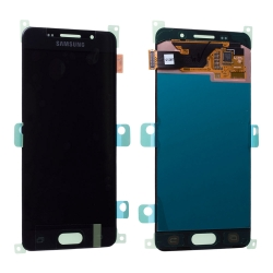 Bloc écran Noir Amoled avec vitre prémontée pour Samsung Galaxy A3 2016