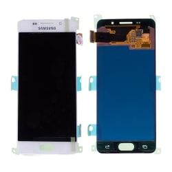 Bloc écran Blanc Amoled avec vitre prémontée pour Samsung Galaxy A3 2016