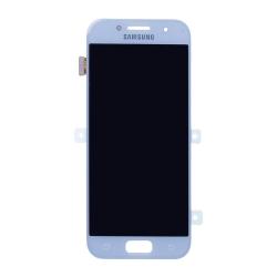 Bloc écran Bleu Amoled avec vitre prémontée pour Samsung Galaxy A3 2017_photo1