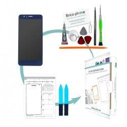 Kit de réparation Ecran Bleu avec vitre et LCD prémonté Huawei Honor 8