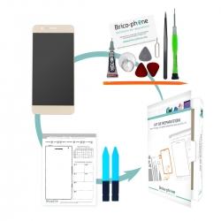 Kit de réparation Ecran Or avec vitre et LCD prémonté Huawei Honor 8