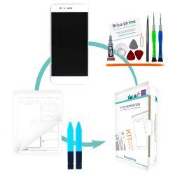 Kit de réparation Ecran avec vitre et LCD sans châssis Huawei P10 Blanc