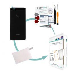Kit de réparation Vitre arrière Noire d'origine avec lecteur d'empreintes Huawei P10 Lite