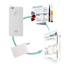 Kit de réparation Vitre arrière Blanche d'origine avec lecteur d'empreintes Huawei P10 Lite