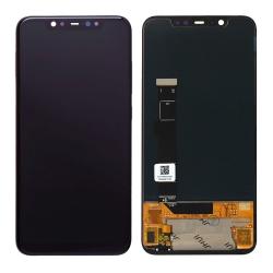 Ecran Noir avec vitre et Super Amoled pré-assemblé pour Xiaomi Mi 8