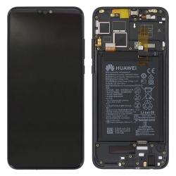 Bloc Ecran Noir complet pré-monté + batterie sur châssis pour Honor 8X_photo1