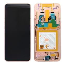 Bloc écran Super Amoled + vitre pré-monté sur châssis pour Samsung Galaxy A80 Or_photo1