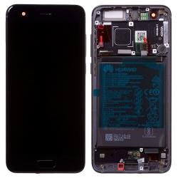 Bloc Ecran Noir COMPLET prémonté sur chassis + batterie pour Huawei Honor 9_photo1