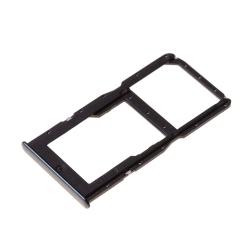 Rack Dual SIM et microSD pour Huawei P30 Lite Noir_1