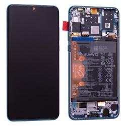 Bloc Ecran Bleu Paon COMPLET pré-monté sur châssis + batterie pour Huawei P30 Lite_photo1
