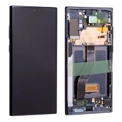 Bloc écran Dynamic Amoled et vitre pré-montés sur châssis pour Samsung Galaxy Note 10+ Noir Cosmos_photo1