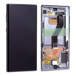 Bloc écran Dynamic Amoled et vitre pré-montés sur châssis pour Samsung Galaxy Note 10+ Argent Stellaire_photo1