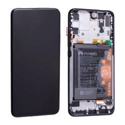 Bloc Ecran Noir COMPLET pré-monté sur châssis + batterie pour Huawei P Smart Z