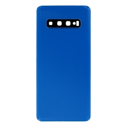 Vitre arrière compatible pour Samsung Galaxy S10 Bleu Prisme