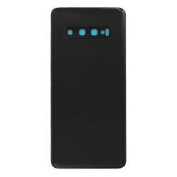 Vitre arrière compatible pour Samsung Galaxy S10 Noir Prisme