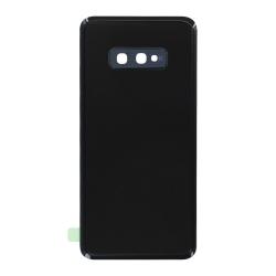 Vitre arrière compatible pour Samsung Galaxy S10e Noir Prisme