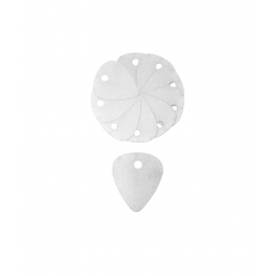 Lot de 10 médiators en métal (0.2mm)