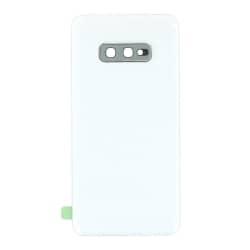 Vitre arrière compatible pour Samsung Galaxy S10e Blanc Prisme